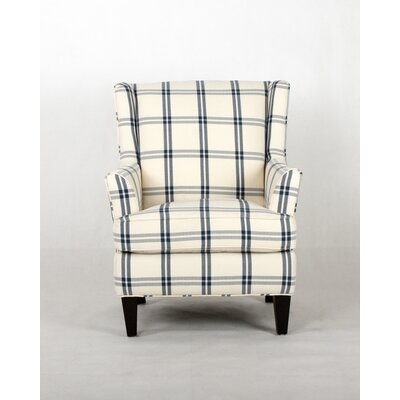 Mariel Transitional Wingback Chair Upholstery: Navy