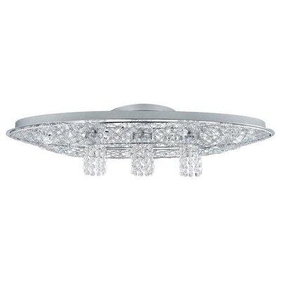 Annabel Oval Crystal 9-Light Flush Mount