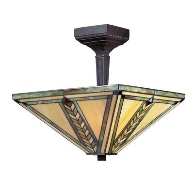 Nott 2-Light Semi Flush Mount