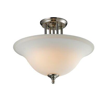 Westland 3-Light Semi Flush Mount Fixture Finish: Brushed Nickel