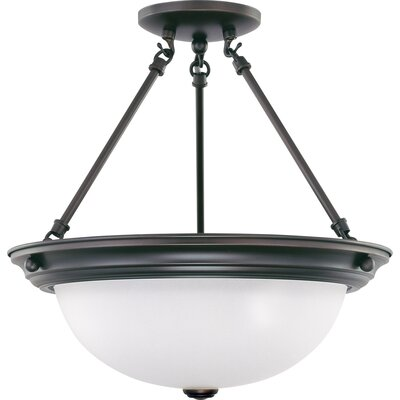 Berchmans 3-Light Semi Flush Mount