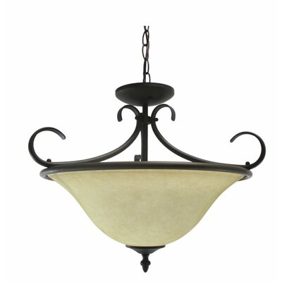 Ceron 2-Light Bowl Pendant