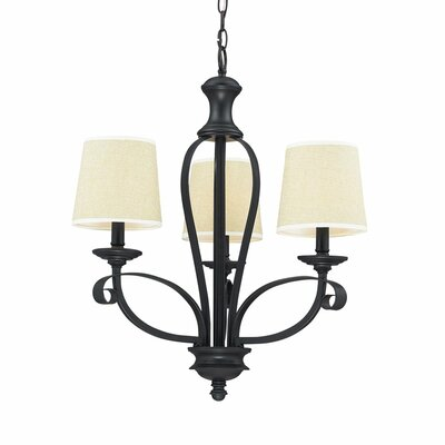 Breanna 3-Light Candle-Style Chandelier