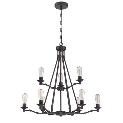 9-Light Candle-Style Chandelier Finish: Aged Bronze