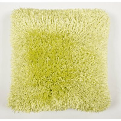 Avelar Shag Throw Pillow Color: Green