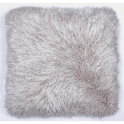 Auxier Shag Throw Pillow Color: Silver