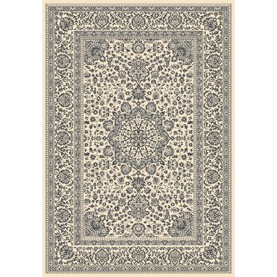 Wiedeman Beige/Gray Area Rug Rug Size: 53 x 77