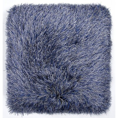 Auxier Shag Throw Pillow Color: Gray/Blue
