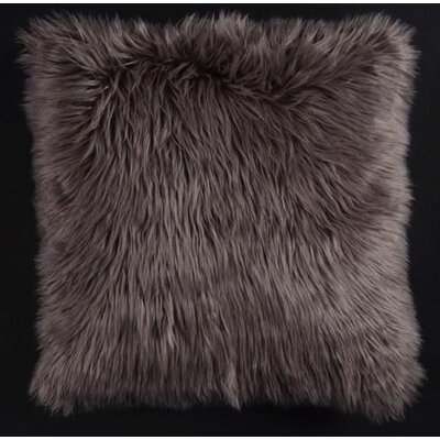 Avey Fuzz Shag Throw Pillow Color: Gray