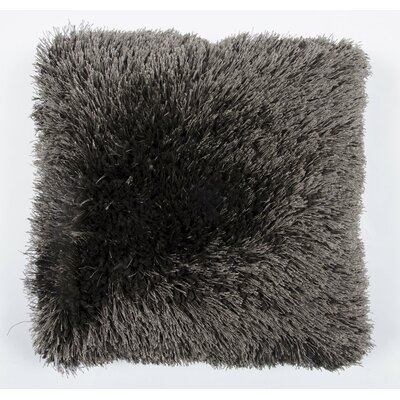 Avelar Shag Throw Pillow Color: Gray