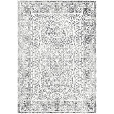 Wiedeman Contemporary Gray Area Rug Rug Size: 710 x 106