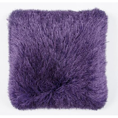 Auxier Shag Throw Pillow Color: Purple