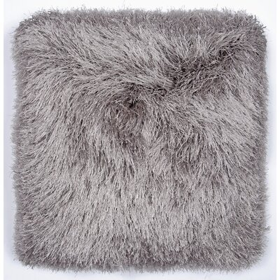 Khloe Shag Throw Pillow Color: Gray