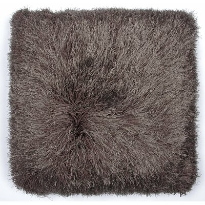 Khloe Shag Throw Pillow Color: Brown