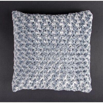 Austrinus Rosette Shag Throw Pillow Color: Silver