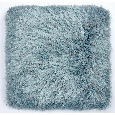 Auxier Shag Throw Pillow Color: Gray/Turquoise