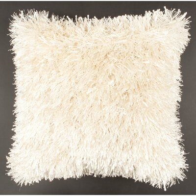 Autumnus Mix Shag Throw Pillow Color: White