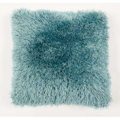 Avelar Shag Throw Pillow Color: Turquoise