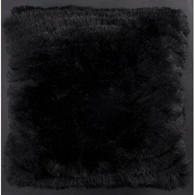 Aviles Shag Throw Pillow Color: Black