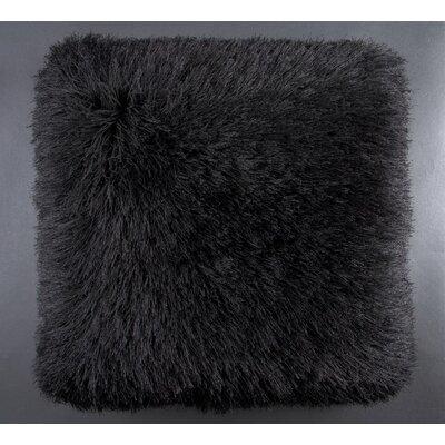 Auxier Shag Throw Pillow Color: Black