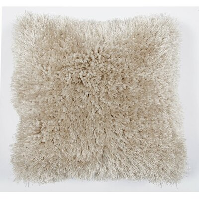 Avelar Shag Throw Pillow Color: Beige