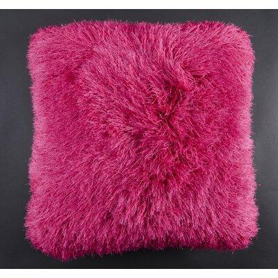Auxier Shag Throw Pillow Color: Fuschia