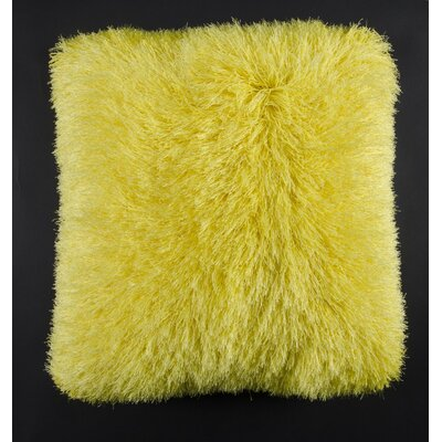 Khloe Shag Throw Pillow Color: Summer Yellow