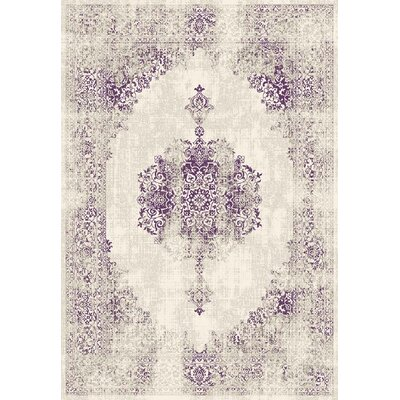 Maxime Purple Area Rug Rug Size: 53 x 77