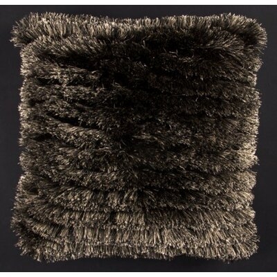 Aviles Shag Throw Pillow Color: Black/Beige