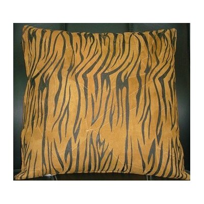 Abel Leather Throw Pillow Color: Tan