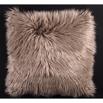 Avey Fuzz Shag Throw Pillow Color: Silver
