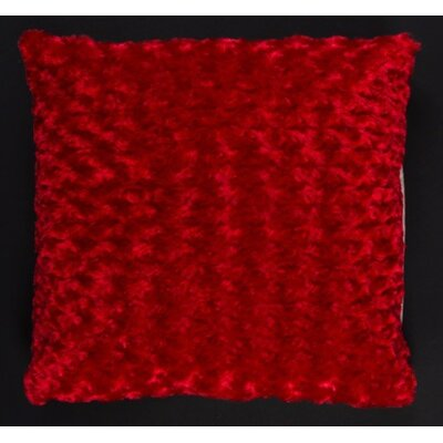 Austrinus Rosette Shag Throw Pillow Color: Red