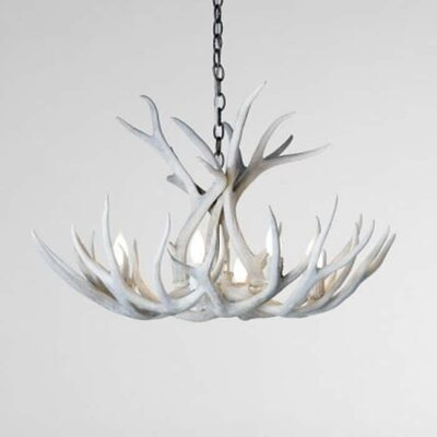 Alexus Mule Deer 6-Light Candle-Style Chandelier Finish: Sun Bleached