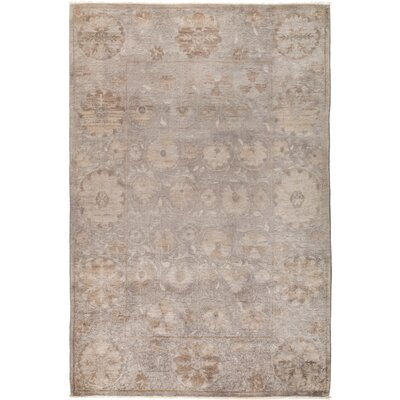 One-of-a-Kind Rupinen Hand Knotted Wool Gray Area Rug