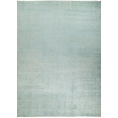 One-of-a-Kind Dunnyvadden Hand Knotted Wool Blue Area Rug