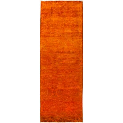 One-of-a-Kind Courter Hand Knotted Wool Orange Area Rug