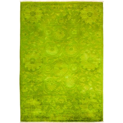 One-of-a-Kind Kingswood Hand Knotted Wool Green Area Rug