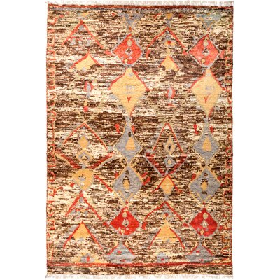 One-of-a-Kind Heiman Hand Knotted Wool Brown/Beige Area Rug