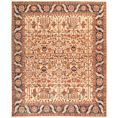 One-of-a-Kind Heineman Hand Knotted Wool Beige Area Rug