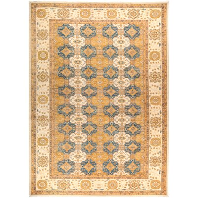 One-of-a-Kind Heimbach Hand Knotted Wool Yellow Area Rug