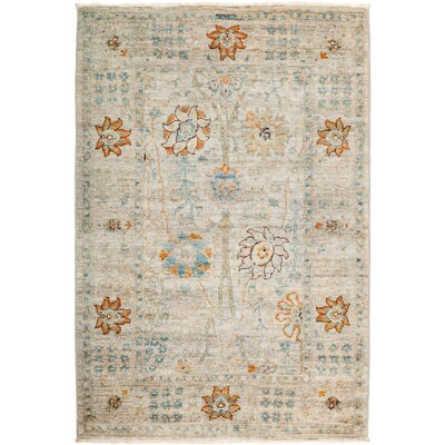 One-of-a-Kind Heilman Hand Knotted Wool Gray Area Rug