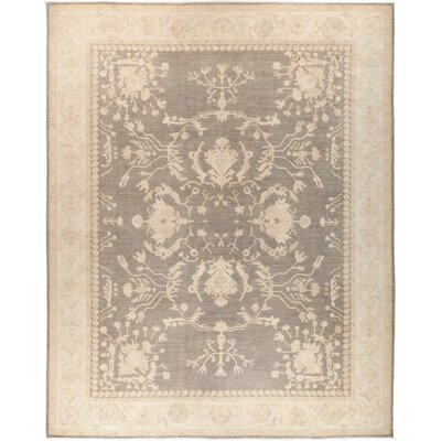 One-of-a-Kind Hein Hand Knotted Wool Gray Area Rug