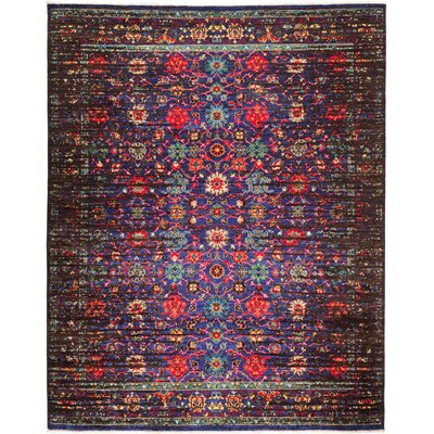 One-of-a-Kind Heim Hand Knotted Wool Purple Area Rug
