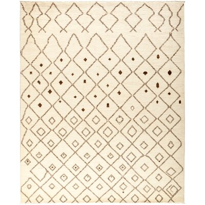 One-of-a-Kind Chelmsford Hand Knotted Beige Area Rug
