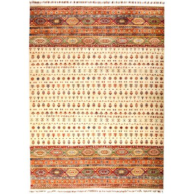 One-of-a-Kind Heinen Hand Knotted Wool Beige/Orange Area Rug