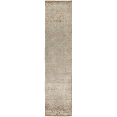 One-of-a-Kind Courter Hand Knotted Wool Gray Area Rug