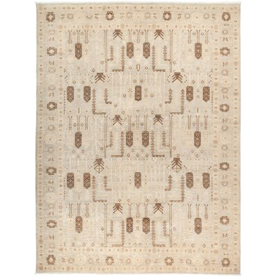 One-of-a-Kind Heimbach Hand Knotted Wool Beige Area Rug