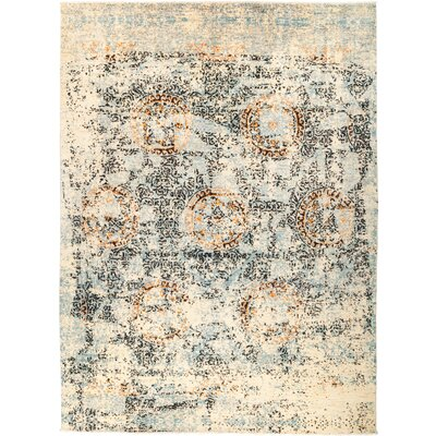 One-of-a-Kind Heim Hand Knotted Wool Black/Blue Area Rug