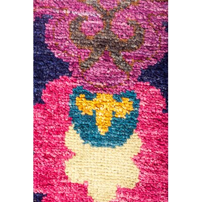 One-of-a-Kind Vanness Hand Knotted Wool Purple Area Rug