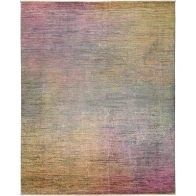 One-of-a-Kind Courter Hand Knotted Purple/Yellow Area Rug